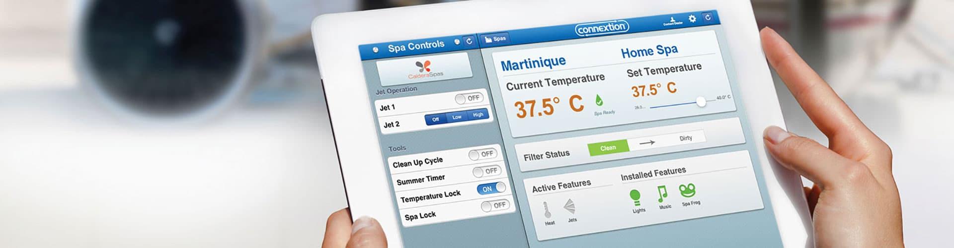 Caldera Spas Connextion App - Remote Spa Monitoring System